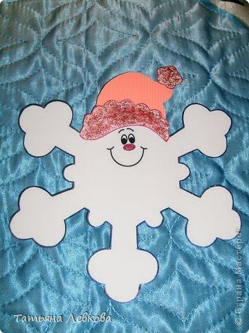Снежинка своими руками из картона