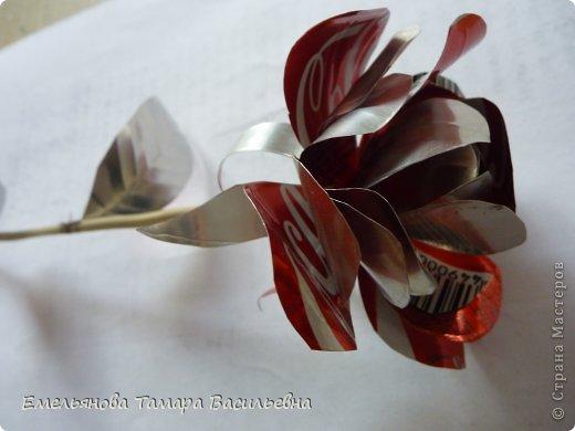 Розы из жестяной банки своими руками