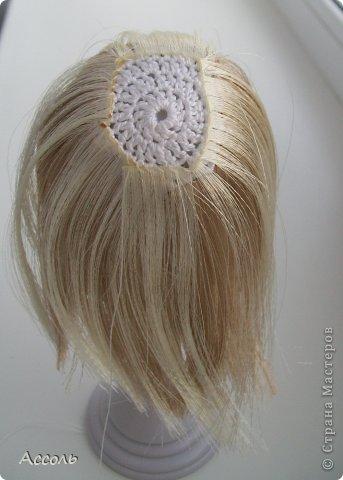 Как сделать из ниток волосы для вязаной куклы из 91
