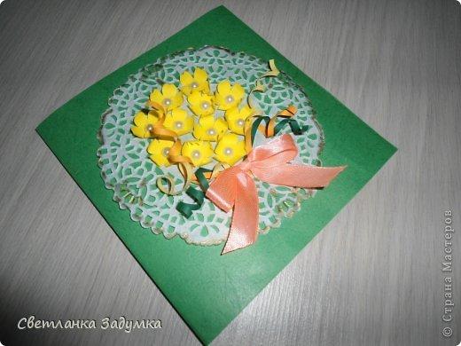 На день рождения моей тети Цветы по МК от Астории  http://asti-n.ya.ru/replies.xml?item_no=550 бабочку вырезала сама по картинке следа от дырокола. Такой дырокол пока в моих мечтах))))  фото 3