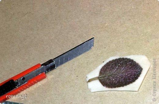 Так выглядят готовые отпечатки листьев на панно. фото 11