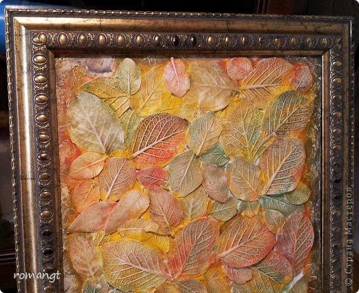 Так выглядят готовые отпечатки листьев на панно. фото 12