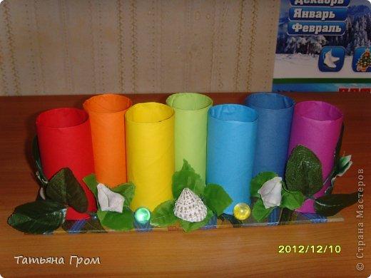 Подставка для карандашей из трубочек от туалетной бумаги фото 7