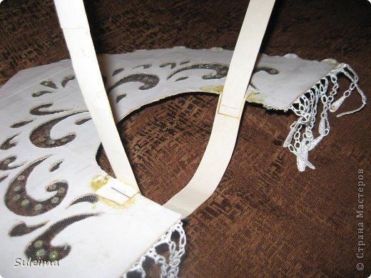 Мастер-класс Новый год Аппликация Кокошник для снегурочки МК Бумага Картон Тесьма шнур фото 11