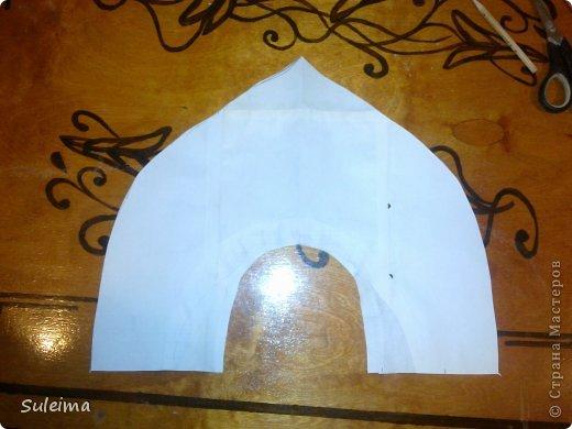 Мастер-класс Новый год Аппликация Кокошник для снегурочки МК Бумага Картон Тесьма шнур фото 3