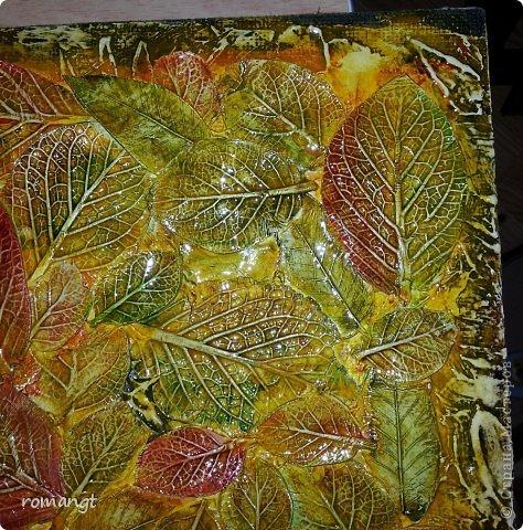 Картина панно рисунок Флористика искусственная Праздник осени Моделирование конструирование Рисование и живопись Штамповка Панно Осень Глина Гуашь фото 2
