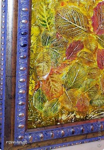 Картина панно рисунок Флористика искусственная Праздник осени Моделирование конструирование Рисование и живопись Штамповка Панно Осень Глина Гуашь фото 5