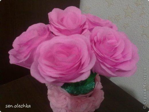 Цветы в вазе из бумаги своими руками
