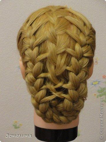 Мастер-класс Прическа Плетение Небольшой МК по комбинированному плетению Волосы фото 19