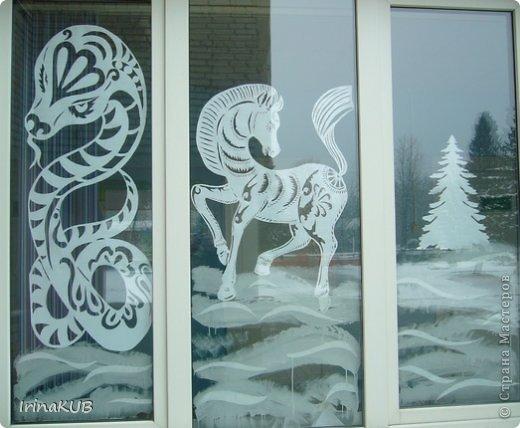 Вытынанка - А вы рисуете на окнах.