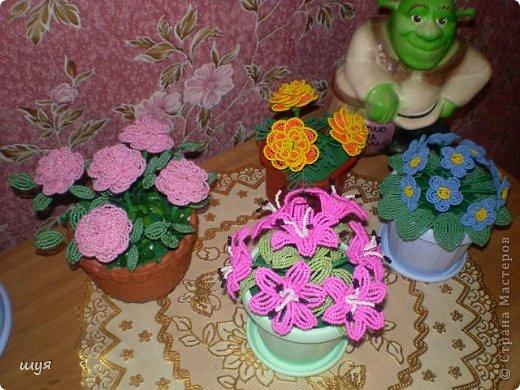 Бисероплетение - Цветочки-39 из бисера.