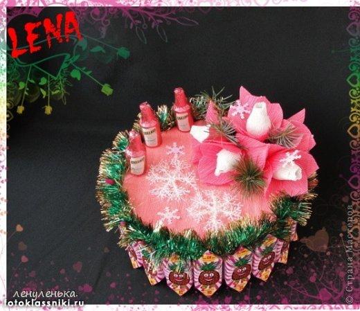 новогодние букеты из конфет фото 11