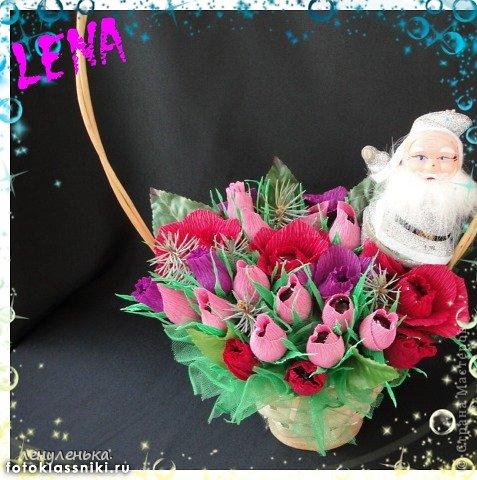 новогодние букеты из конфет фото 5