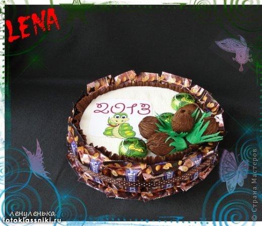 новогодние букеты из конфет фото 1