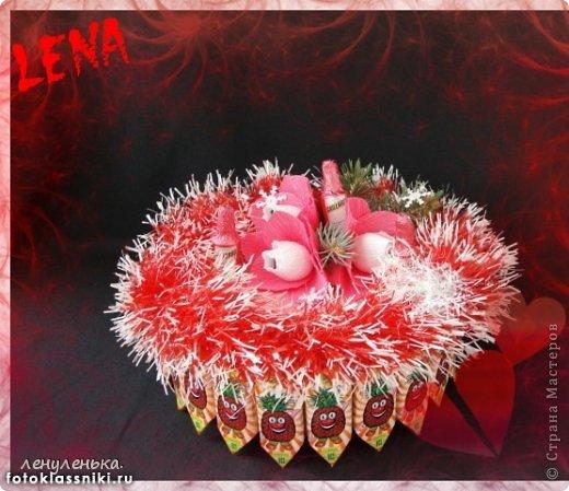 новогодние букеты из конфет фото 7