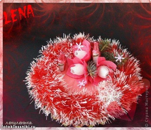 новогодние букеты из конфет фото 8