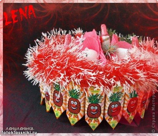 новогодние букеты из конфет фото 9