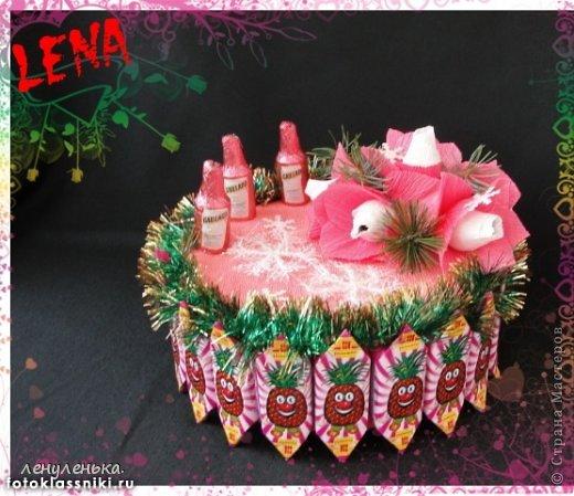 новогодние букеты из конфет фото 10