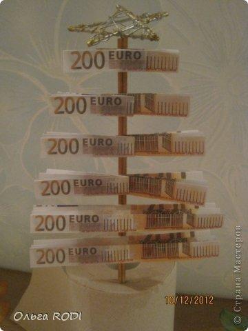 Сразу же хочу оговориться, я не претендую на авторство идеи денежной ёлки!!! Таких ёлочек полно в интернете. Я всего лишь хочу поделиться процессом создания данной елочки в моей интерпретации)) фото 21