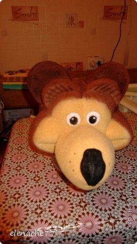 Маска шапка медведя . Предлагаю посмотреть мастер класс может кому-нибудь понадобится. фото 19