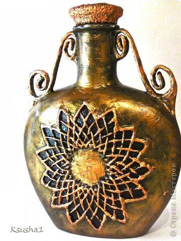 Декор предметов Новый год Бумагопластика Античный сосуд Банки стеклянные Бумага фото 2