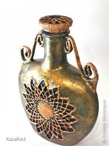 Декор предметов Новый год Бумагопластика Античный сосуд Банки стеклянные Бумага фото 4
