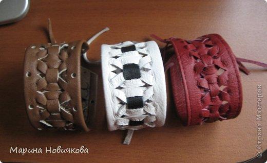 Плетение браслет Кожа фото
