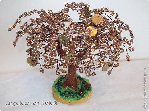 Бисероплетение - Денежное дерево-99 из бисера.