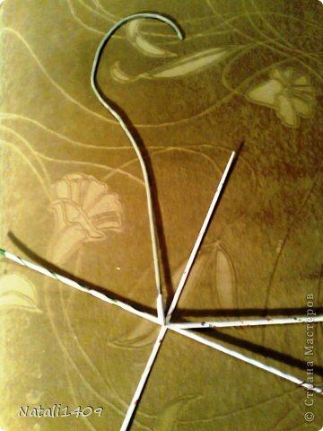 Мастер-класс Поделка изделие Плетение Подставочка под цветы Бумага газетная Металл Трубочки бумажные фото 3
