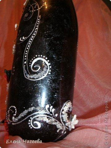 Подружка попросила оформить бутылку для ее свекрови на 65летие, а т.к. др в декабре мне в голову пришла такая идея... фото 6