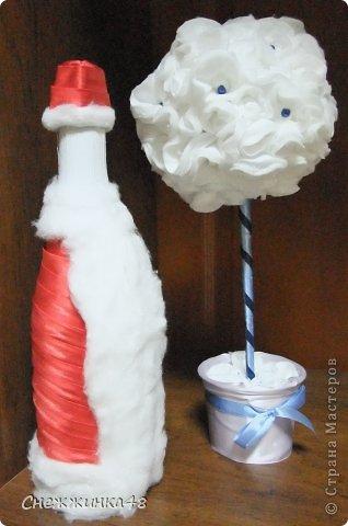 Скоро, скоро Новый Год! Вот и у меня вырос новогодний топиарий с Дедом Морозом в паре! фото 1