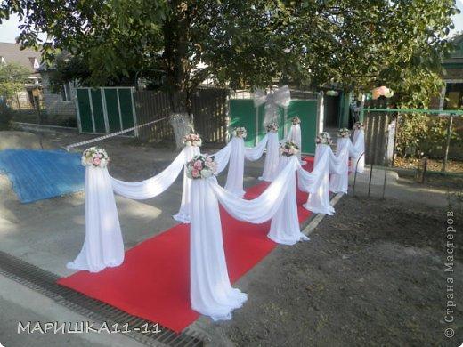 Как украсить двор для свадьбы