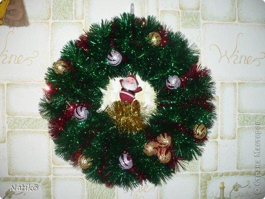 Только на такой веночек у меня хватило времени для себя любимой, хотя и давала МК в своём городе рождественского венка из ели. фото 4