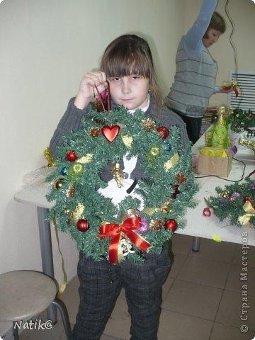 Только на такой веночек у меня хватило времени для себя любимой, хотя и давала МК в своём городе рождественского венка из ели. фото 13