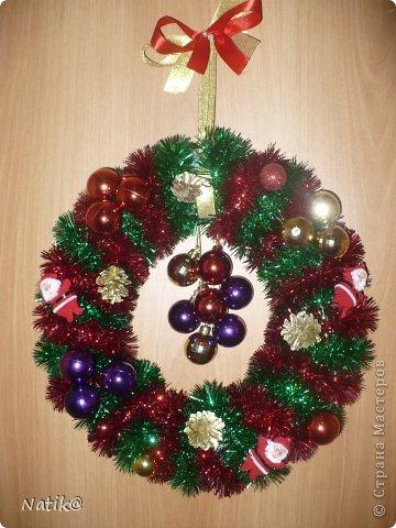Только на такой веночек у меня хватило времени для себя любимой, хотя и давала МК в своём городе рождественского венка из ели. фото 1