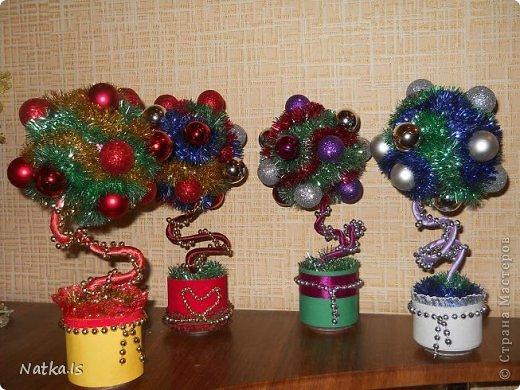 Даже не знаю почему, но у меня родилось новогоднее счастье! Создалось сразу четыре деревца. Можно сказать четыре стихии... фото 6