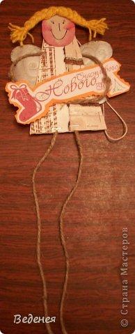 Давно приглянулись мне ангелочки Лидии Леонидовны - https://stranamasterov.ru/node/444169?c=favorite. Вот и повод обнаружился!Будут дополнением к новогодним подаркам вместо открыток. фото 3