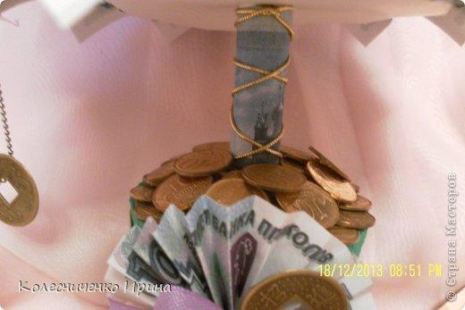 Насмотревшись на ёлочки мастериц из СМ решила сделать и себе ёлочку, да не простую а денежную... это одна из ёлочек  фото 5