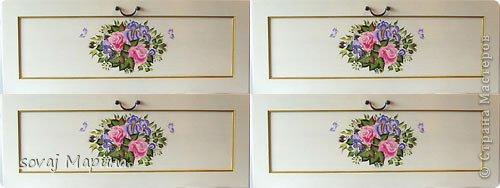 """Мой первый опыт в росписи мебели... Комод из ИКЕА, ламинированый пленкой... поверхность для росписи, не из простых... краски ложаться хуже чем на стекло. В работе использовала Плэйд Энамелс, плоские кисти, техника """"один мазок""""  Работа выполнена на заказ, и конечно дизайн согласовывался с заказчиком. Для себя, я бы добавила рисунок по углам и уменьшила центральный букет, но и так,  мне кажется, получилось не плохо!?... Комод целиком не могу показать, так как имею только фасады ящиков. фото 2"""