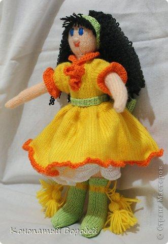 Для вязания этой куклы использовала шерсть :) фото 1