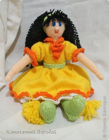 Для вязания этой куклы использовала шерсть :) фото 3