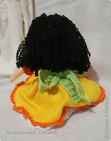 Для вязания этой куклы использовала шерсть :) фото 2
