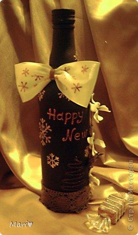 Моя любимица - шоколадно-ванильная бутылочка! Новый год - это же куча сладостей! Вот поэтому такую смастерила))) фото 3
