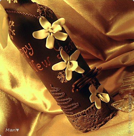 Моя любимица - шоколадно-ванильная бутылочка! Новый год - это же куча сладостей! Вот поэтому такую смастерила))) фото 2