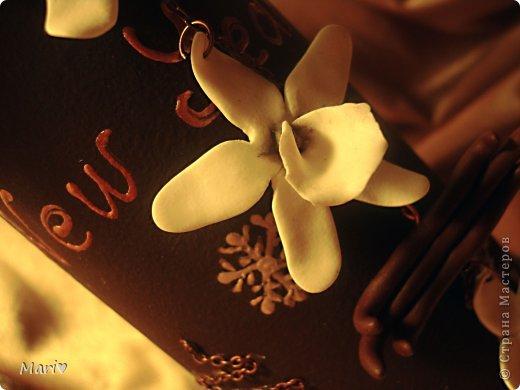 Моя любимица - шоколадно-ванильная бутылочка! Новый год - это же куча сладостей! Вот поэтому такую смастерила))) фото 4