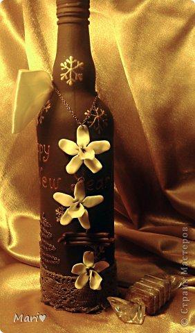 Моя любимица - шоколадно-ванильная бутылочка! Новый год - это же куча сладостей! Вот поэтому такую смастерила))) фото 6