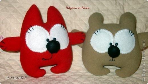 Котенок и мишка, мне кажется получились очень даже милыми!))  фото 1