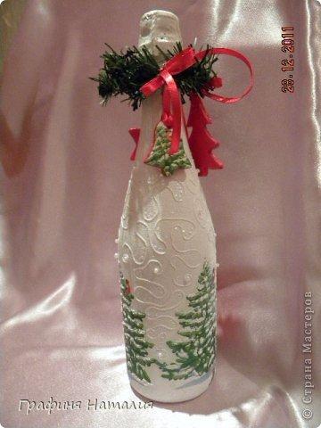 Вот такие бутылочки делала в прошлом году на заказ. фото 10