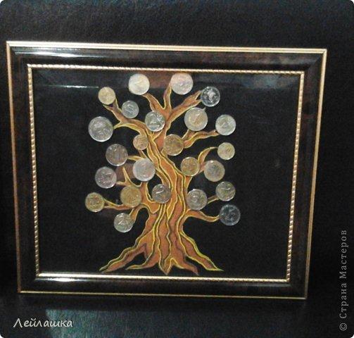 Вот такое денежное дерево - кроме монет все остальное пластилин. На удачу и прибыль в новом году. фото 1