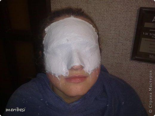 Мастер-класс Поделка изделие Новый год Аппликация из скрученных жгутиков Лепка Маскарадная маска  к празднику успеем мини мк   Гипс Клей Краска Салфетки фото 5